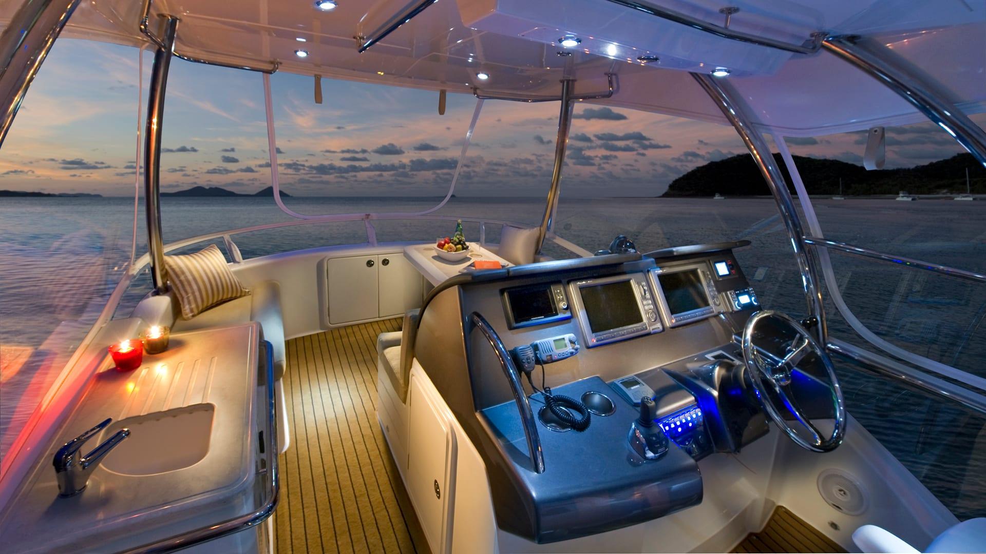 Riviera 43 Open Flybridge Helm