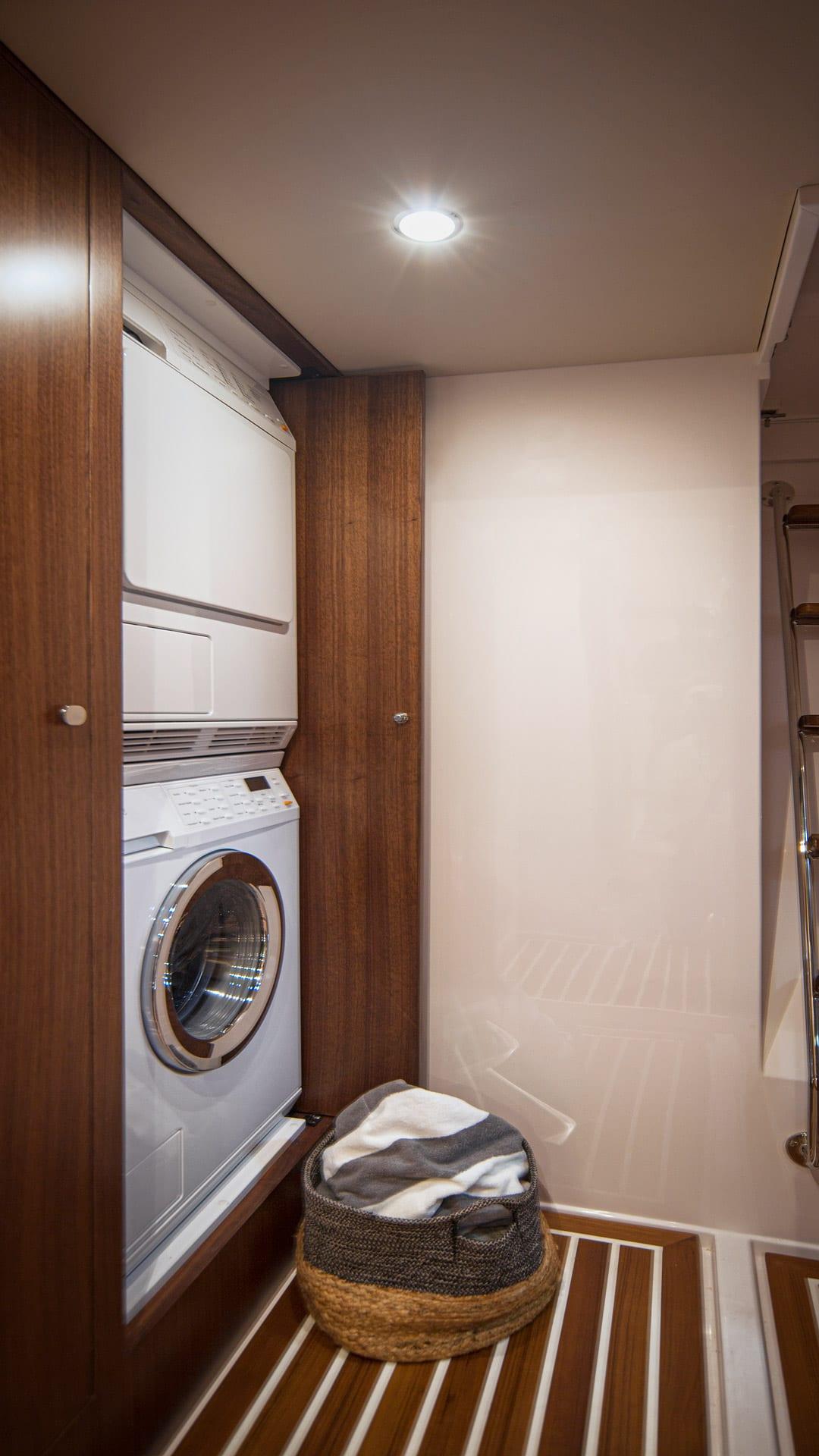 Belize 66 Daybridge Laundry 01 – Satin Walnut Timber Finish