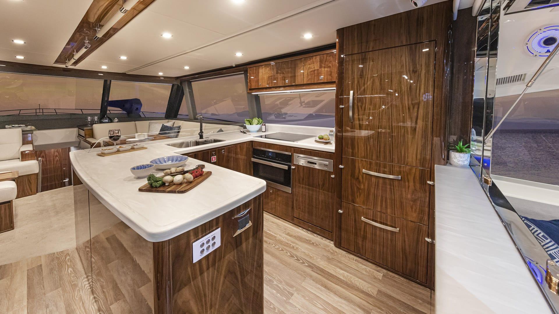 Riviera 64 Sports Motor Yacht Galley 01