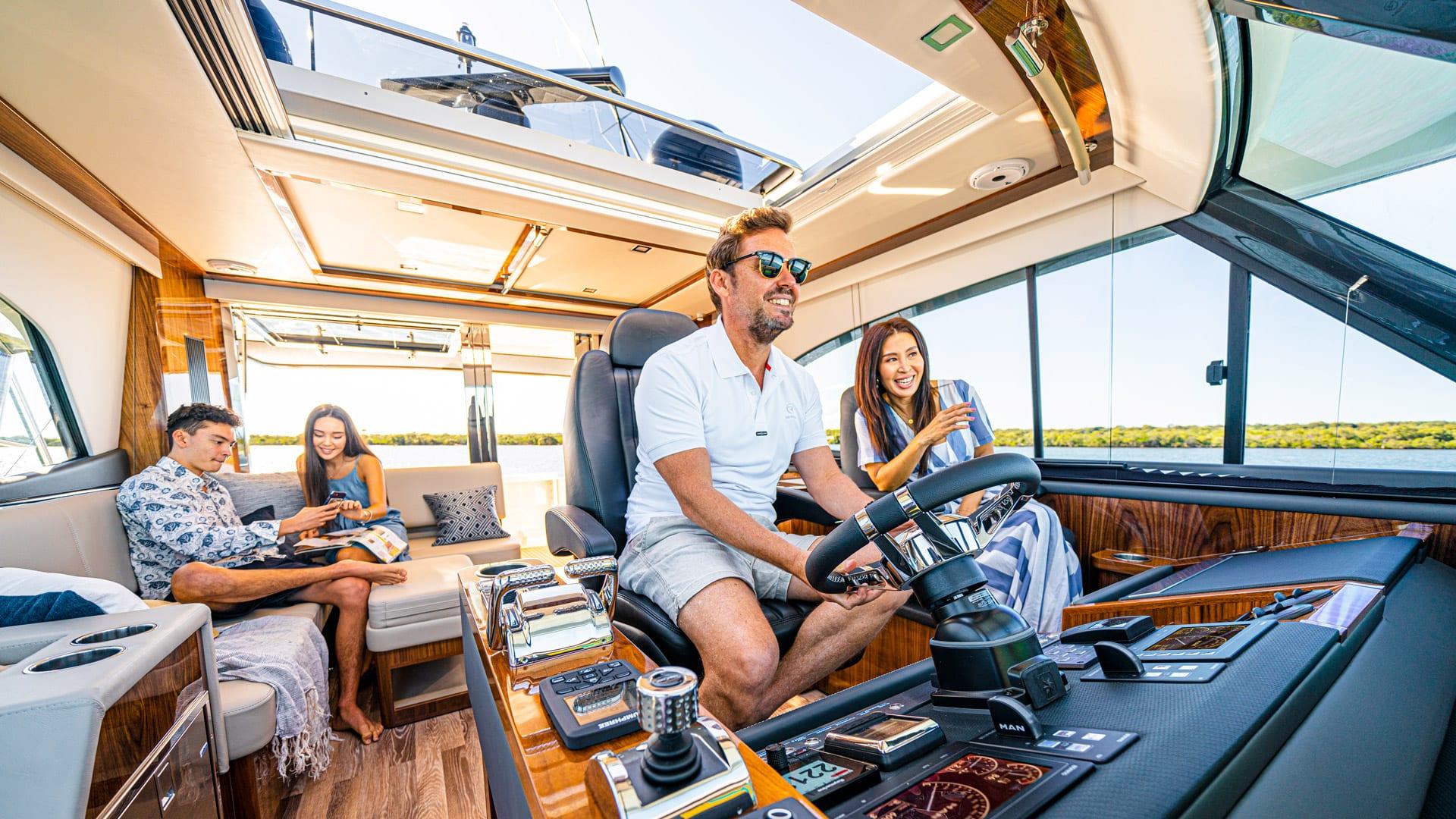 Riviera 64 Sports Motor Yacht Helm 02