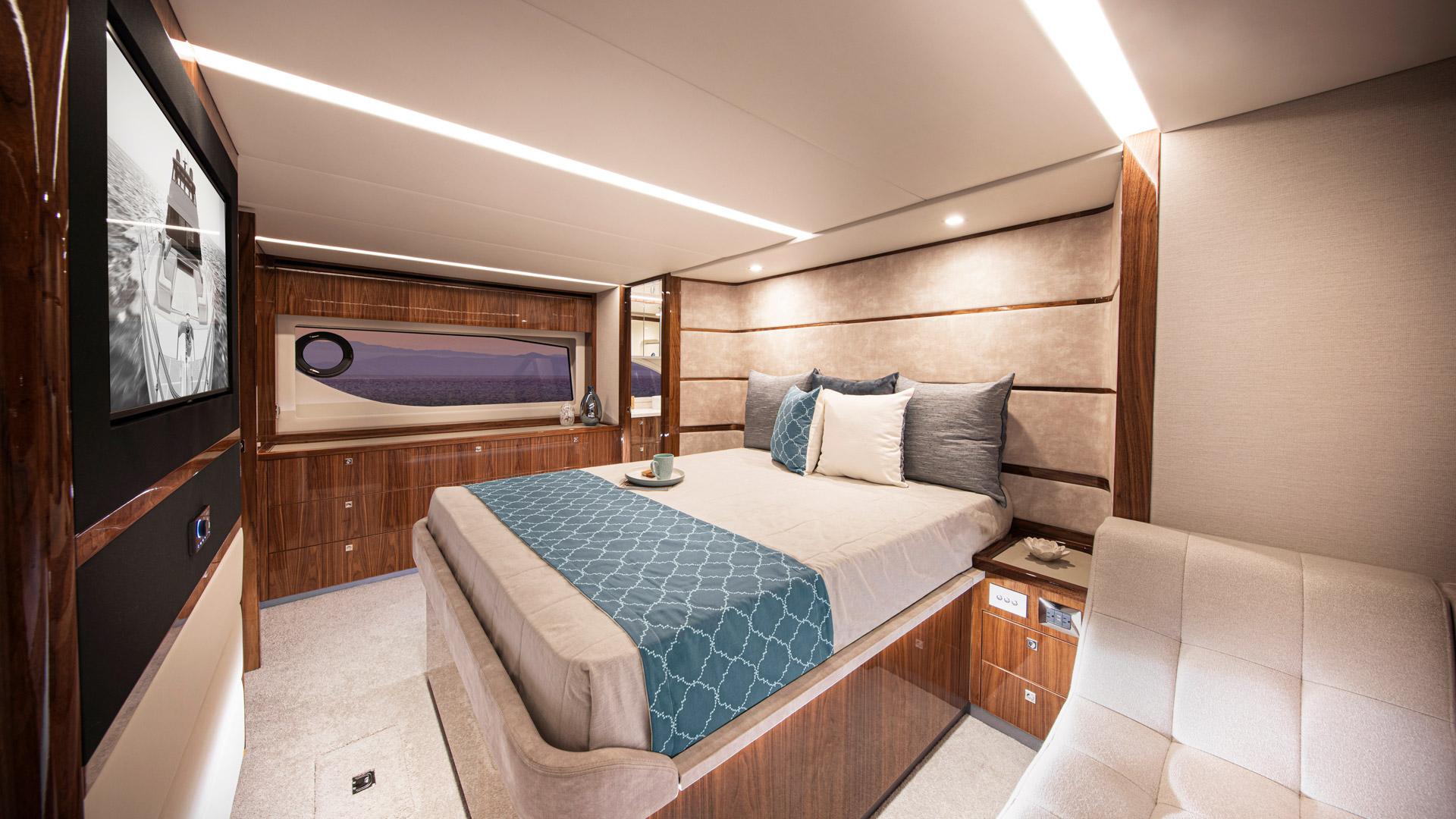 Riviera 64 Sports Motor Yacht Master Stateroom 01