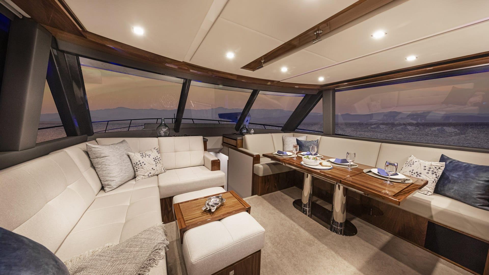 Riviera 64 Sports Motor Yacht Saloon 02