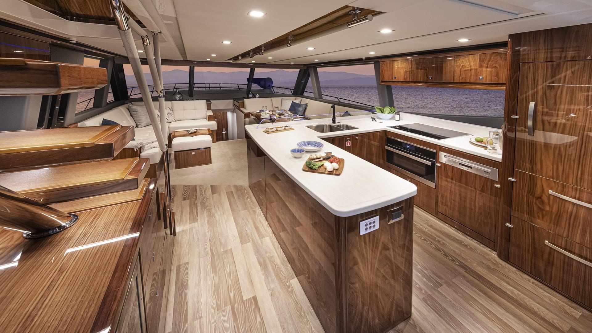Riviera 64 Sports Motor Yacht Saloon 03