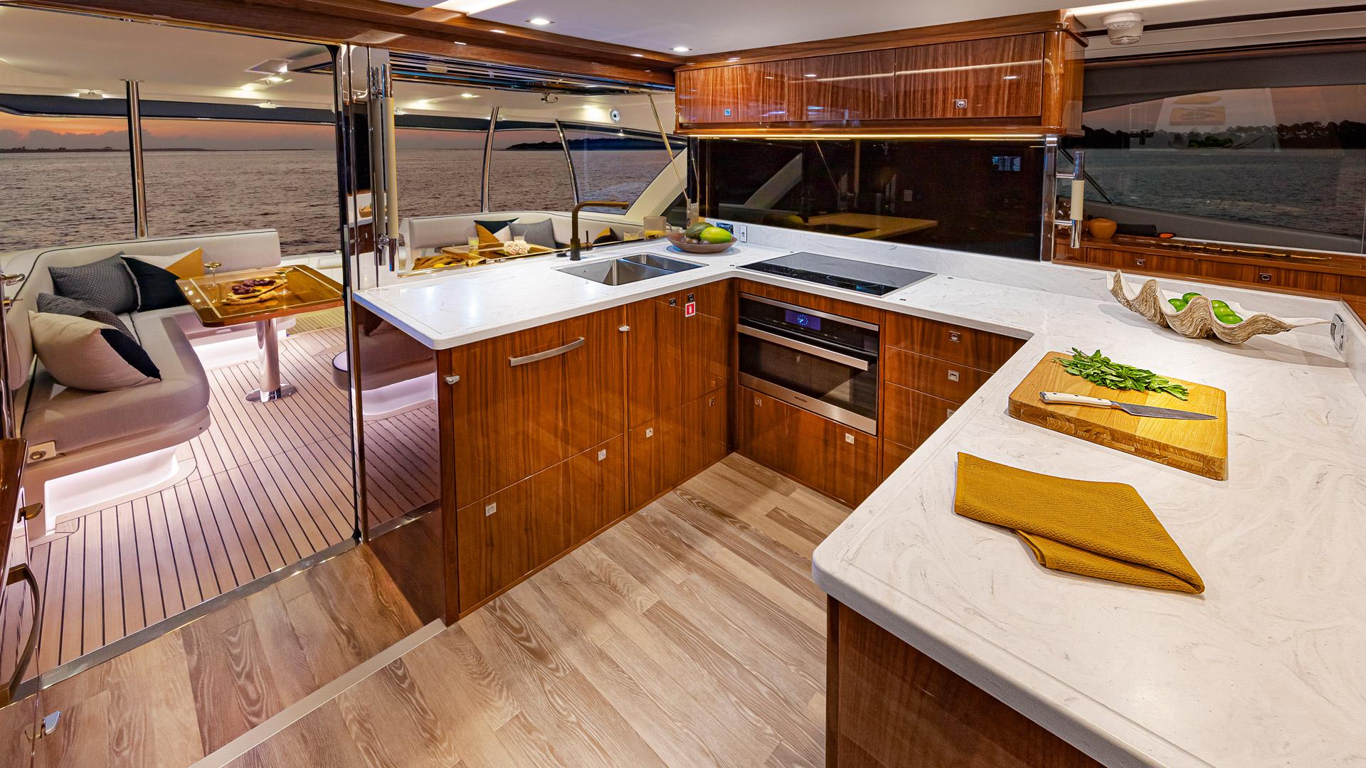 Riviera 72 Sports Motor Yacht Galley 01