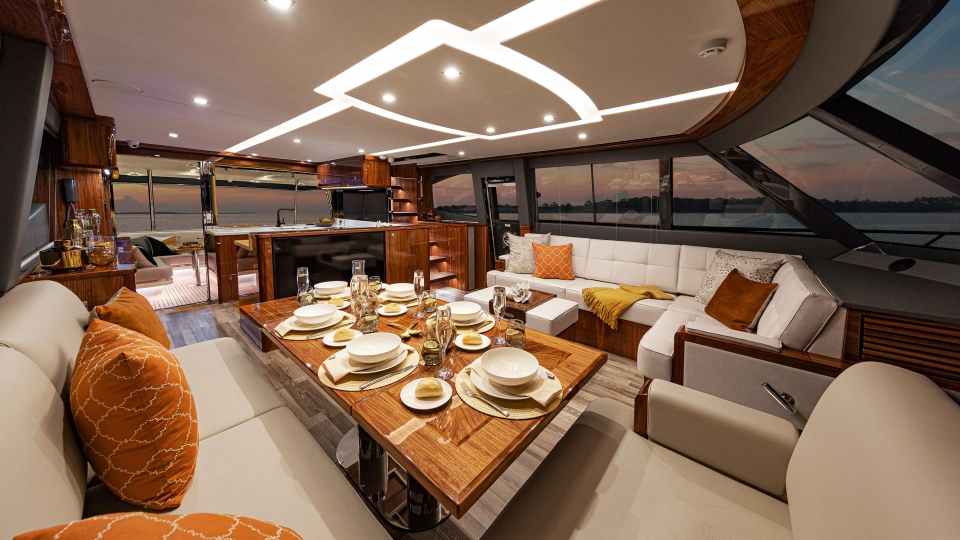 Riviera 72 Sports Motor Yacht Saloon 03